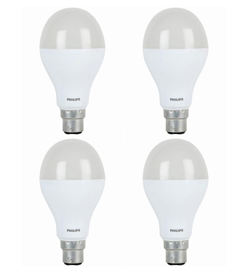 Philips White 14W LED Bulb - Set of 4