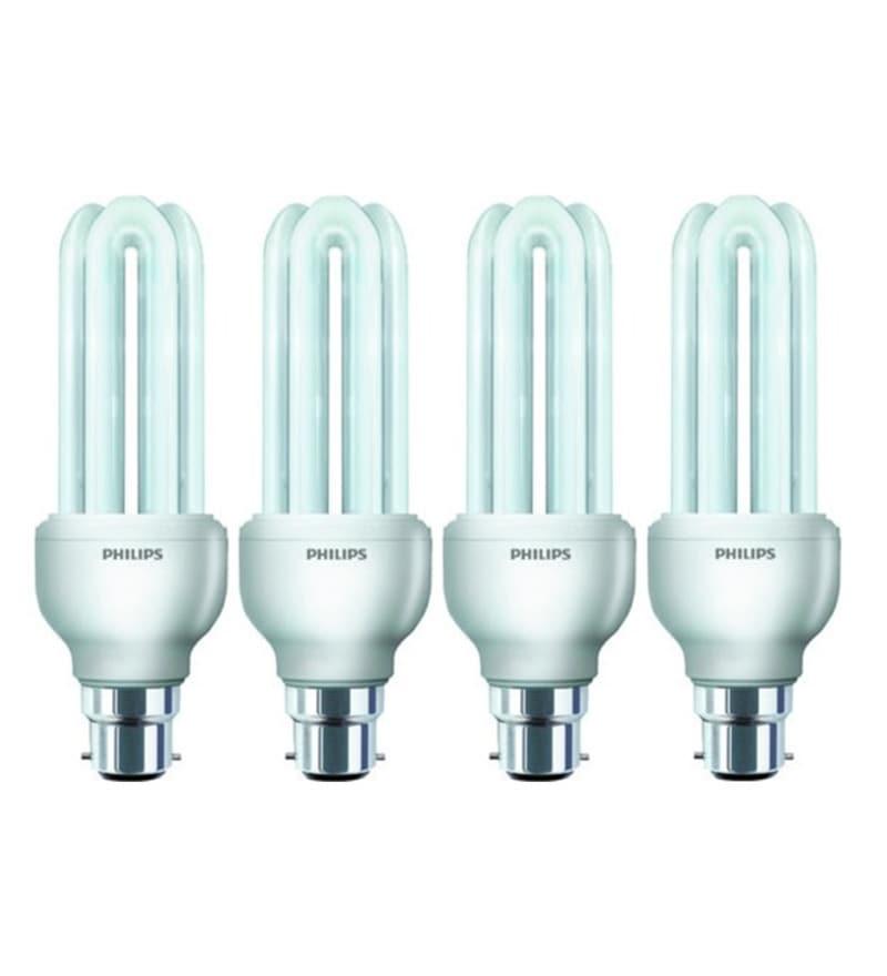 Philips White 18 W CFL Light - Set of 4