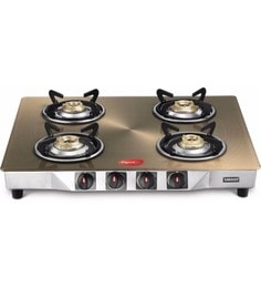 Pigeon Smart Plus Toughened Glass 4 Burner Gas Stove