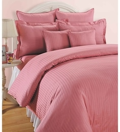 Solid 210TC Cotton King Size Bed Sheet With 2 Pillow Covers