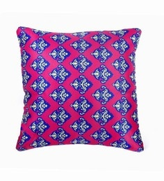 Pink Polyester 12 X 12 Inch Cushion Cover