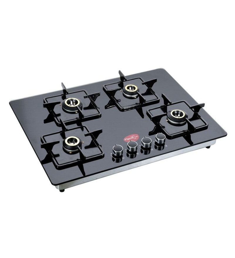 Pigeon Black Glass 4-burner Auto Ignition Hob
