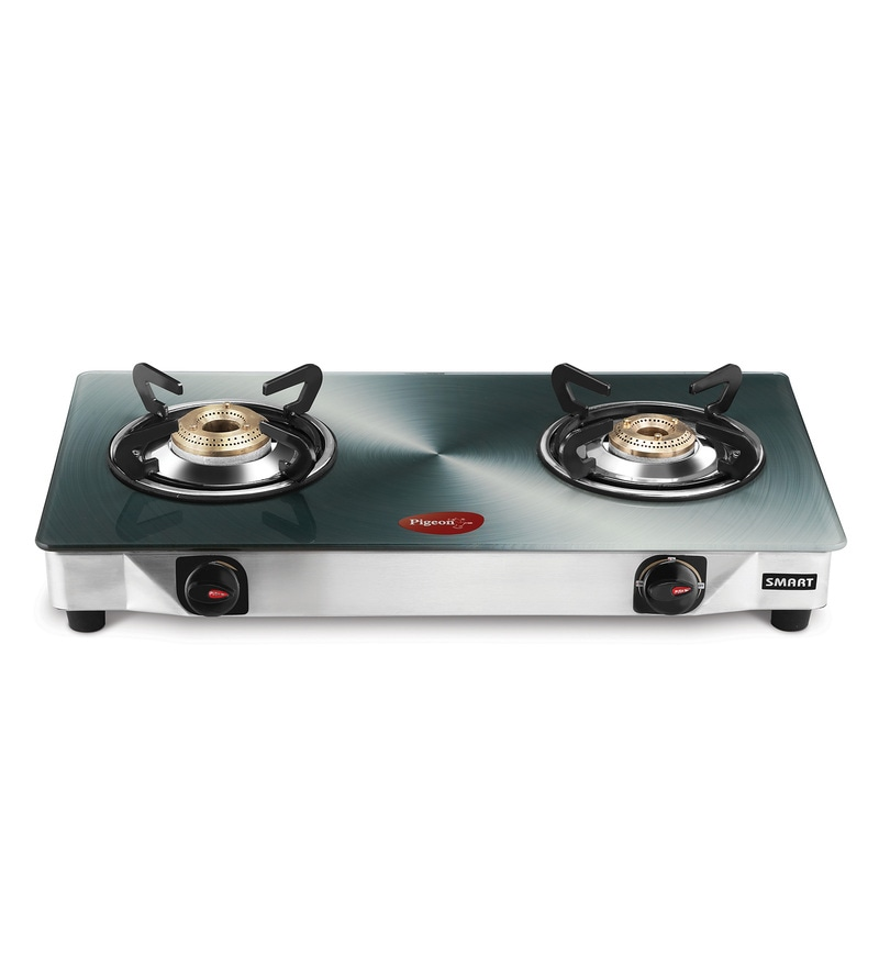 Pigeon Smart Plus Toughened Glass 2 Burner Gas Stove