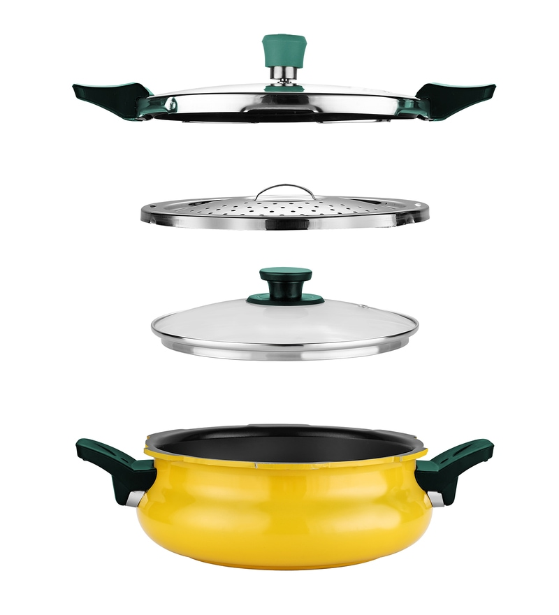 Pigeon Yellow Aluminium 3L All in One Super Pressure Cooker