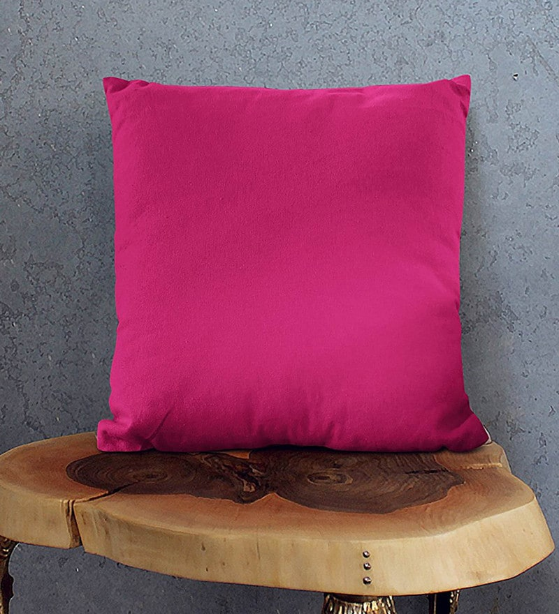 Pink Cotton 16 x 16 Inch Cushion Covers - Set of 5 by Encasa Homes