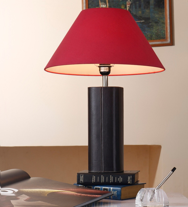 Pink Cotton Table Lamp by Anasa