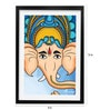 Pickypomp Paper 8 x 12 Inch Lord Ganesha Framed Wall Poster