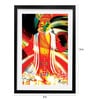 Pickypomp Paper 8 x 12 Inch The Bharatnatyam Framed Wall Poster