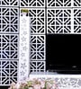 White Acrylic Geometric Design Room Divider by Planet Decor