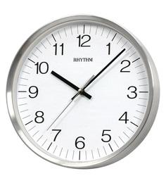 Plastic 12.6 X 1.8 X 12.6 Inch Silver Round Wall Clock