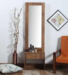 Platina Dressing Table In Knotty Brown Finish