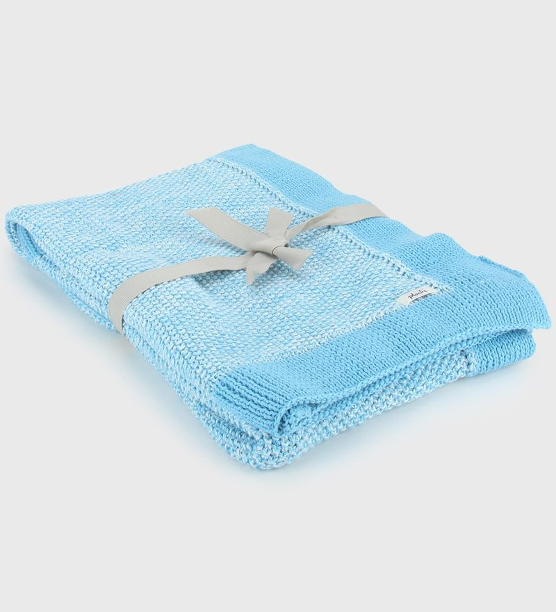 Cotton Knitted Baby Blanket by Pluchi