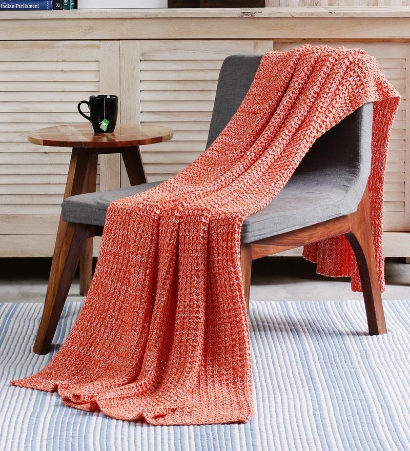 Crochet Cotton Single Throw by Pluchi