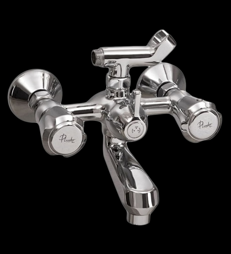 Plumber Duralife Chrome Brass Telephonic Wall Mixer