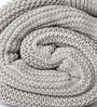 Pluchi Bianca Knitted Single-Size Throw Blanket