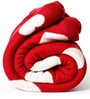 Love Is Everywhere Baby Blanket in Red & Natural Colour by Pluchi
