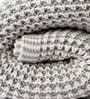 The Mesh Knitted Single-Size Throw Blanket by Pluchi