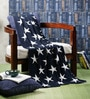 Way to the Stars Knitted Cotton Single Blanket by Pluchi