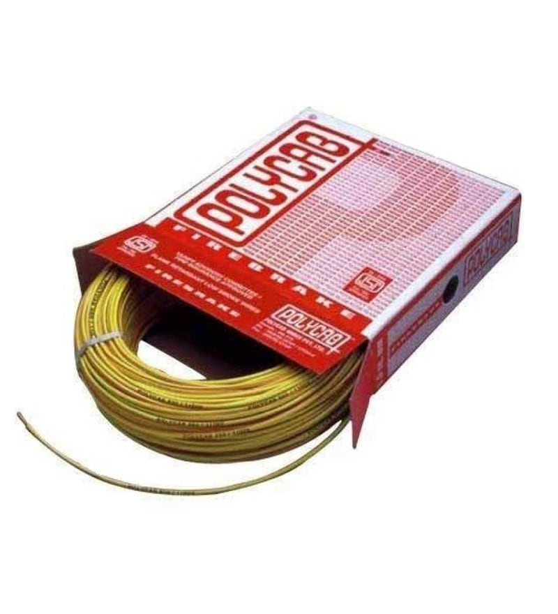 Polycab Industrial Yellow 1.5 Sq.mm (90 m) Multistrand Wire