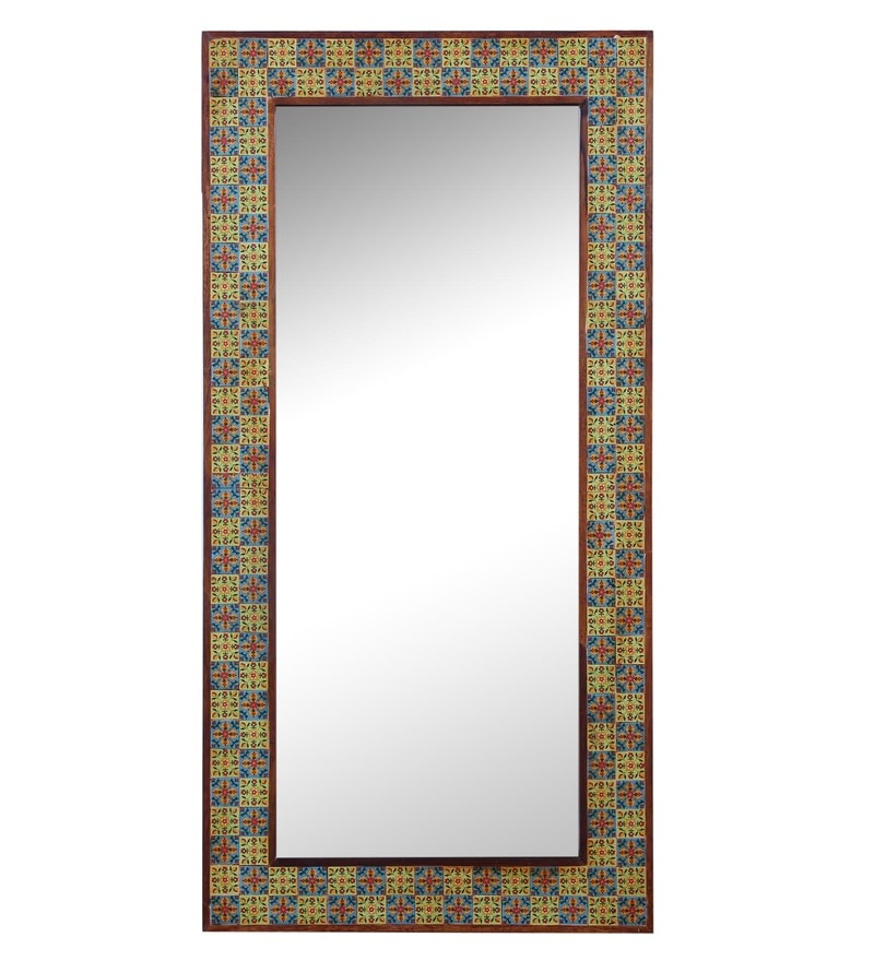Portry Multicolour Inlay Mirror by Hanumant