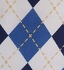 Portico New York Blue Cotton Queen Size Marvella New Talk of the Town Bed Sheet with 2 Pillow Covers