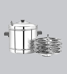 Premier Stainless Steel Cookware - Idly Maker (With 4 Plates)