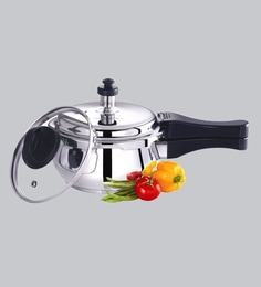Premier Stainless Steel Handi Induction Bottom Pressure Cooker With Glass Lid 1.5 Ltr