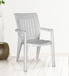 Premium Arm Chair In White Colour