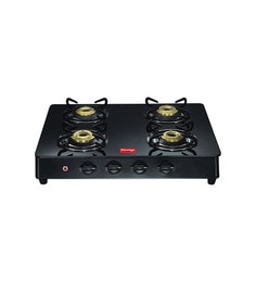Prestige GT04 Auto Ignition 4-burner Glass Cooktop at pepperfry