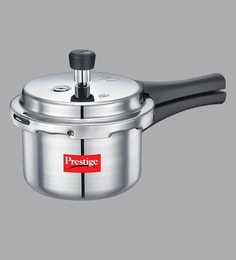 Prestige Popular Hard Anodized Aluminium White Pressure Cooker ,1500 ML
