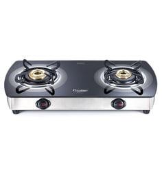Prestige Premia GTSM02 SS 2 Burner Glass Cooktop