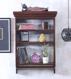 336af30dd2f Solid Wood Hand-Made 3 Tier Multi-Purpose Wall Shelf in Provincial Teak  Finish ...