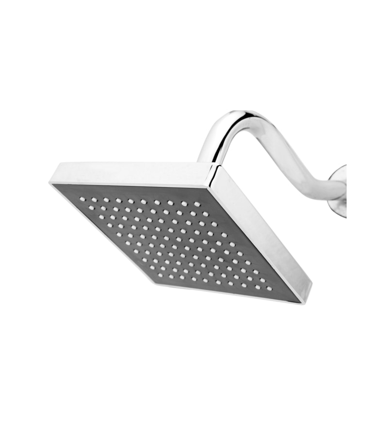 Presco Kubix Silver ABS 11 Inch Overhead Shower