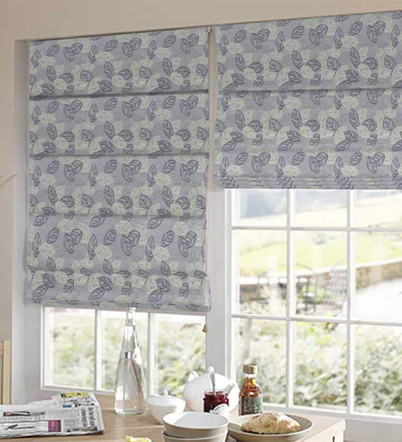 Blue Polyester Stylish Window Blind by Presto