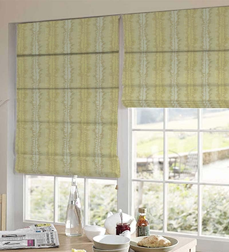 Yellow Polyester Abstract Window Blind by Presto