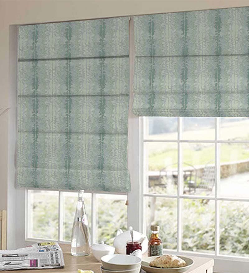 Green Polyester Beautiful & Abstract Jacquard Window Blind by Presto