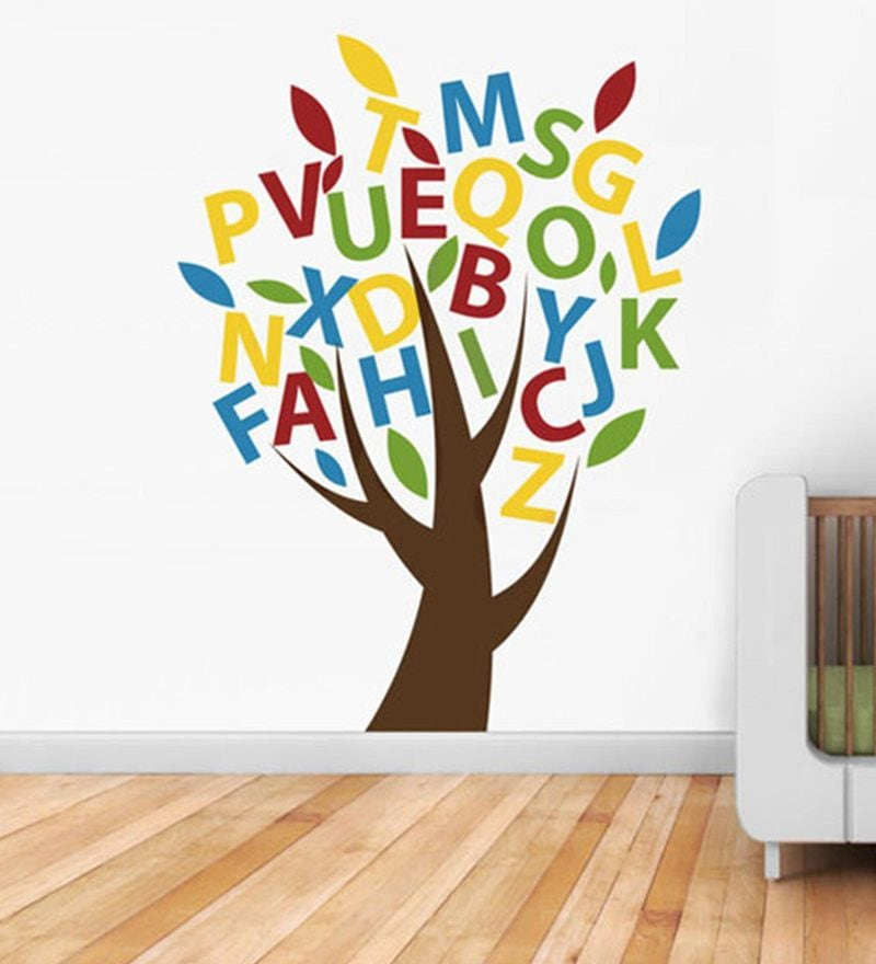 S Beautiful Alphabets Tree Wall Sticker by Print Mantras