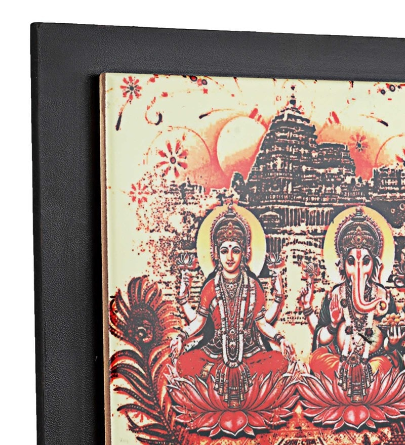 Printed Laxmi Ganesha Ceramic Key Holder by Gifts & Souvenir