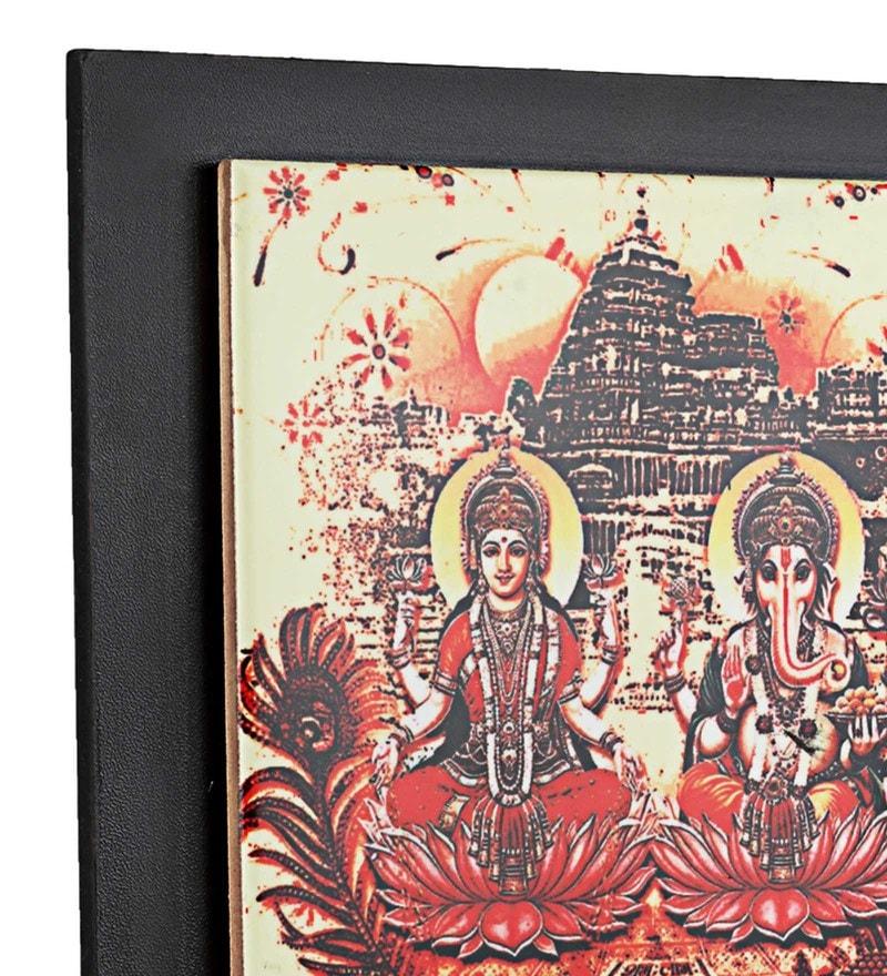 Printed Laxmi Ganesha Ceramic Key Holder by Gifts & Souvenir