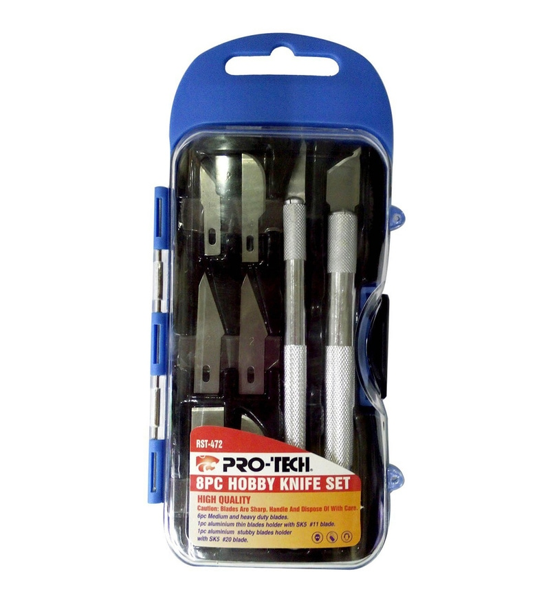 Pro-Tech Metal 3 x 6 Inch Hobby Knife - Set of 8