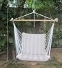 Premium Cushioned Swing Chair in Tan Stripe by Hang It