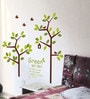 PVC Wall Stickers Wall Decals Beautiful Green Tree and Birds by Print Mantras