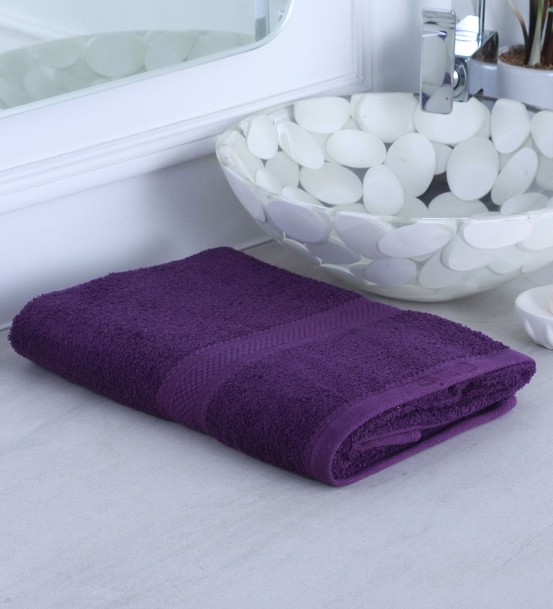 Purple 100% Cotton Bath Towel by Raymond Home