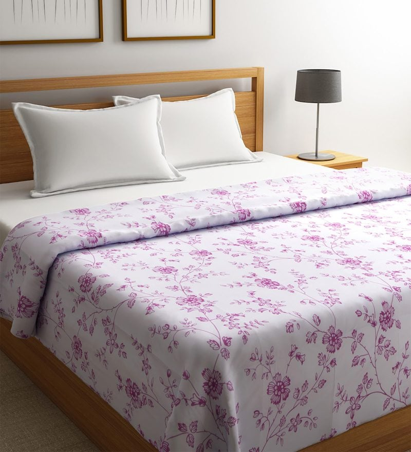 Purple Polyester Single Size Blanket by Raymond Home