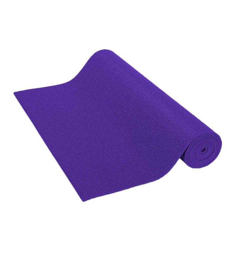Purple Pvc 68 x 24 Inch Yoga Mat by R Home