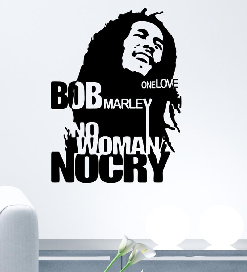 PVC Vinyl Bob Marley Wall Sticker by Decor Kafe
