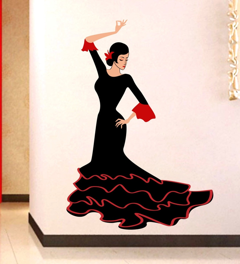 PVC Vinyl Dancing Girl Wall Sticker by Decor Kafe