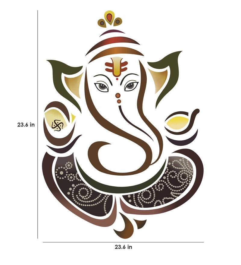 buy pvc vinyl modern elegant ganesha god for pooja room wall sticker