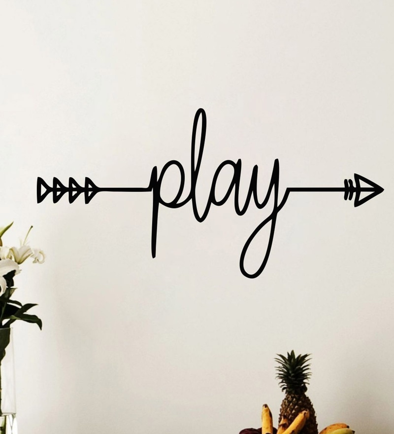 PVC Vinyl Play Quotation Wall Sticker by Wall Attraction