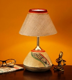 Pyne Wood Home Decorative Bedroom Study Table Lamp